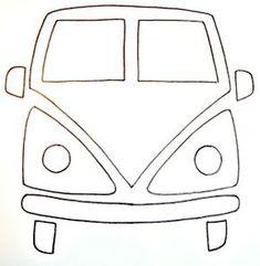 Diy by Paula: Una volkswagen hippie Felt Patterns, Applique Patterns, Sewing Patterns, Sewing Hacks, Sewing Crafts, Sewing Projects, Hippie Crafts, Felt Crafts, Fabric Crafts