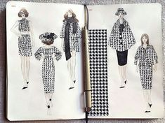 Fashion sketchbook pages fashion design drawings dress. Fashion Design Books, Fashion Design Portfolio, Fashion Design Drawings, Fashion Books, Fashion Sketches, Fashion Art, Fashion Illustrations, Illustration Mode, Fashion Sketchbook