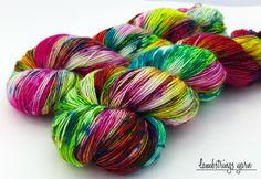TOAK Sadie Sock HT Hand dyed yarn, Superwash merino wool, Single ply, 400 yds: July by Lambstrings on Etsy Sts 1, Spinning Yarn, Summer Knitting, Hand Dyed Yarn, Yarn Colors, Neon Yellow, Sadie, Dyes, Yarns