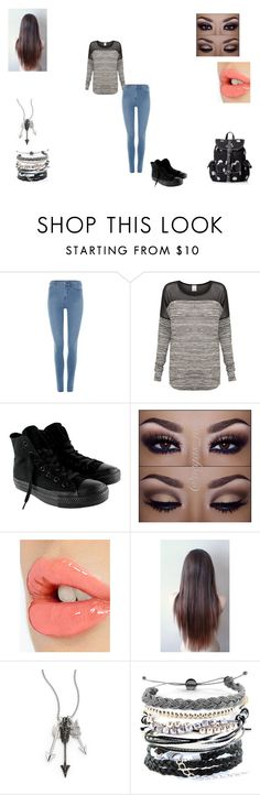 """Untitled #341"" by futurefashionista14 ❤ liked on Polyvore featuring Dr. Denim, Vero Moda, Converse, Charlotte Tilbury, Jade Jagger, Domo Beads and Wild Pair"