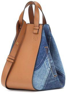 Loewe Hammock Small leather and denim shoulder bag Loewe Hammock Small leather and denim shoulder bag Denim Handbags, Handbags On Sale, Luxury Handbags, Purses And Handbags, Leather Handbags, Denim Shoulder Bags, Shoulder Handbags, Leather Shoulder Bag, Sac Week End
