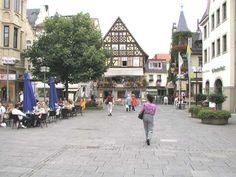 Bad Kissingen, Germany. Wienerwald Restaurant on the left, very good jägerschnitzel and weizen bier!