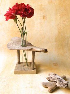 Soliflore en bois flotté par l'Atelier de Corinne : Accessoires de maison par atelier-de-corinne