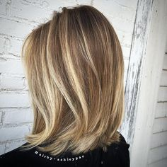 balayage lob | Back view from the gorgeous balayage blonde bob the other day  # ...