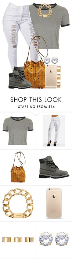 """Gray x White"" by livelifefreelyy ❤ liked on Polyvore featuring Topshop, MCM, Timberland, Michael Kors and ASOS"