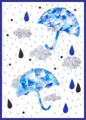 Deštníky, deštivé počasí, kapky vody Water Activities, Activities For Kids, Painting For Kids, Diy For Kids, Diy And Crafts, Techno, Origami, Artwork, Mandala