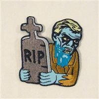 Zombie with Headstone Patch