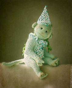Teddy Bears handmade. Livemaster - handmade. Buy Monkey amber author collectible toy Teddy.Mint, monkey handmade, couple #teddy #bear #teddybear #handmade #artdoll #ooakteddy #toy #bunny #teddybunny #rabbit #teddyrabbit #motherday