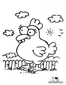 Tavuk Boyama Sayfası Erdil Yaşaroğlunun çizdiği Ne çizsem Bugün