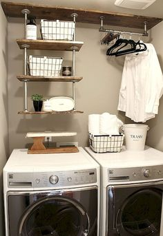 Small laundry room makeover ideas (67)