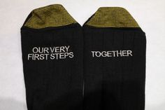 Men's Our Very First Steps Together  by EmbroideryServices on Etsy