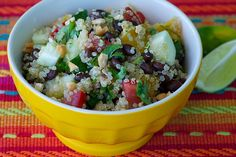 Quinoa and Black Bean Salad with Fresh Lime Dressing