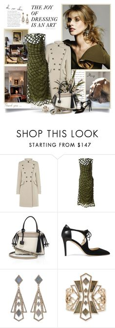 """""""The Joy Of Dressing Is An Art"""" by thewondersoffashion ❤ liked on Polyvore featuring Prada, Peace and Love by Calao, Karen Millen, Simone Rocha, Tod's, Jimmy Choo, Lulu Frost, jimmychoo, karenmillen and simonerocha"""
