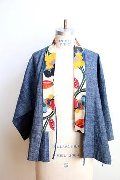 arts + letters smock in 'bloom' Batik Fashion, Diy Fashion, Fashion Outfits, Womens Fashion, Fashion Design, Batik Blazer, Blouse Batik, Look Kimono, Kimono Jacket