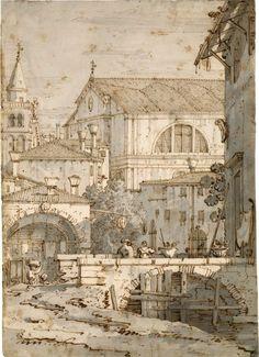 Architectural Capriccio, Canaletto (Giovanni Antonio Canal)