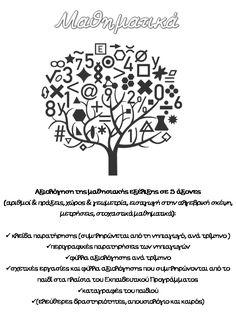 Portfolio: Μαθηματικά by eirmatth via slideshare Autumn Activities, Education, Maths, Portfolio Ideas, School Stuff, Preschool, Teacher, Professor, Kid Garden