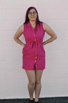 Linen Shirt Dress, Linen Dresses, Barbie Shirt, Mother Of Pearl Buttons, Check Shirt, Talbots, Looks Great, Irish, Pink
