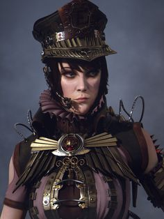 Ashen, the Steampunk Law Enforcer by Guang Shi GuangArt__Ashen, the Steampunk Law Enforcer  Character design, Modeling, Surfacing and lighting by me  Compositing by Yuri Vasilyev  3d, fantasy, character, steampunk, girl, woman, portrait  by  Guang Shi