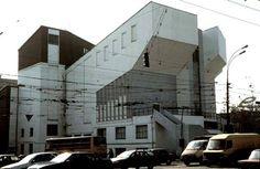 Melnikov, Club des travailleurs Roussakov, Moscou, 1927 (photo 1999) Installation Art, Multi Story Building, Club, Architecture, Moscow, Constructivism, Arquitetura, Architecture Design, Art Installation
