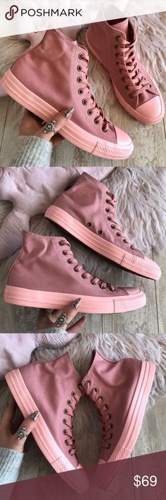 b6c1b9ac288fdb NWT Converse ID Custom Triple Pink High Tops Brand new no box