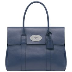 Mulberry - Bayswater in Slate Blue Grainy Print Leather - #blue #mulberry