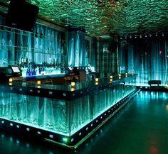 Shimmering glass motif at Vanity in the Hard Rock Hotel in Las Vegas #RestaurantDesign