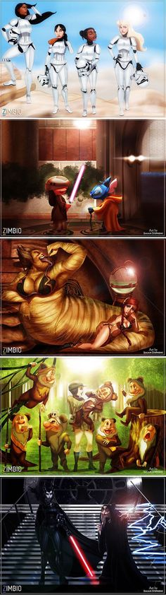 "Disney And ""Star Wars"" Characters Mashup (By Isaiah Stephens) - 9GAG"