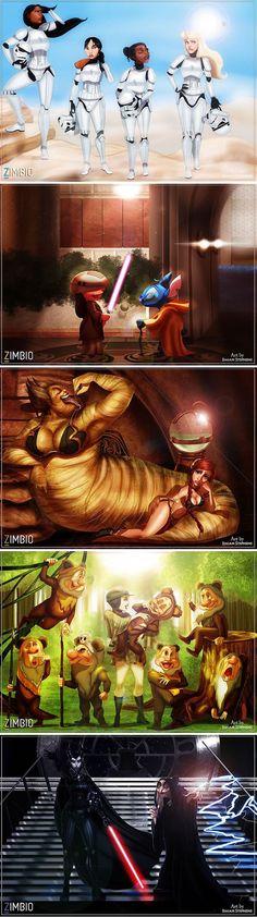 "Disney And ""Star Wars"" Characters Mashup (By Isaiah Stephens) - 9GAG"