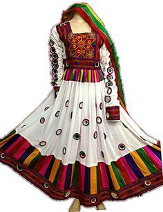 afghan kuchi dress Pakistani Dress Design, Pakistani Dresses, Indian Dresses, Garba Dress, Navratri Dress, Indian Wedding Outfits, Indian Outfits, Afghani Clothes, Afghan Dresses