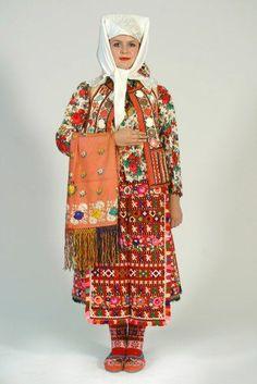 Europe | Portrait of a woman wearing traditional clothes, Osijek-Baranja, Croatia #embroidery #fringe