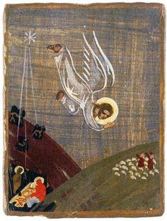 Сестра Иоанна (Ю.Н.Рейтлингер). Рождество Христово — Явление ангела пастухам. Бюсси-ан-От. 1946