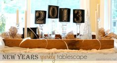 New Years Sparkly Tablescape