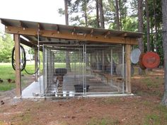 Really need someone to build a cover like this for our kennel