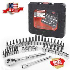 Craftsman 25 PC 1//4 /& 3//8 Drive Inch SAE Metric Socket Wrench Set PRIORITY SHIP!