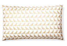 Aviary 14x24 Cotton Pillow, Gold/Ivory on OneKingsLane.com