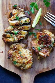 Cilantro Lime Chicken - juicy Mexican-inspired chicken marinated with cilantro, lime