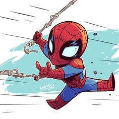 Image result for christmas spiderman chibi derek laufman