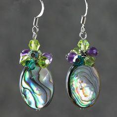 Earrings abalone shell handmade by AniDesignsllc on Etsy, $12.95