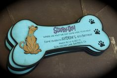 SCOOBY DOO Invitations by kutekardz on Etsy, $6.25