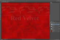 Creating a realistic velvet texture in Photoshop CC is something you can easily do yourself using an assortment of layer styles and filters. First, decide on a color and select a. Photoshop Help, Photoshop Tutorial, Layer Style, Photoshop Illustrator, Painting Inspiration, Red Velvet, Graphic Design, Texture, Color