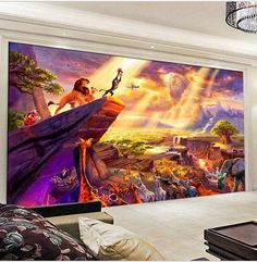 Bon 3D Lion King Cartoon Wallpaper Custom Mural For Kidsu0027 Room