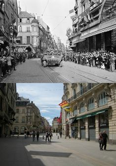 On September 11th 1944, Allied troops finally enter the city and go through the main street.
