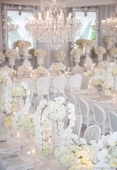 One of the prettiest wedding receptions we've ever seen!