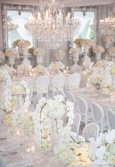 One of the prettiest wedding receptions we've ever seen!