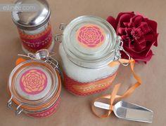 Handmade bath salt recipe and printable labels