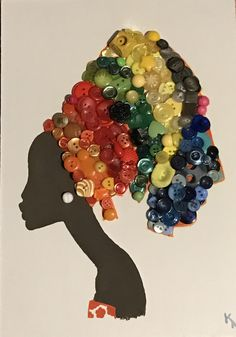 40 Decorative And Brilliant Button Art And Craft Ideas African Crafts, African Art, Button Art, Button Crafts, Diy And Crafts, Arts And Crafts, Recycled Crafts, Diy Quilling Crafts, African Paintings
