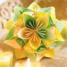Kusudama virág színes fénymásoló papírból - Art-Export webáruház Quilling, Napkins, Tableware, Christmas, Ideas, Creative, Bedspreads, Xmas, Dinnerware