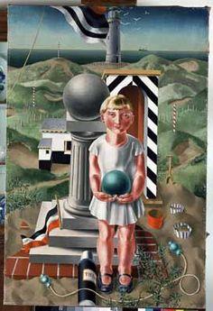 """Meisje met bal (Girl with Ball), / Carel Willink / Gemeentemuseum, Arnhem, The Netherlands Harlem Renaissance, New Objectivity, The Joy Of Painting, Art Deco, Abstract Words, Magic Realism, Z Arts, Dutch Painters, Dutch Artists"