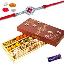 Mix Dry fruits Sweets with Rakhi