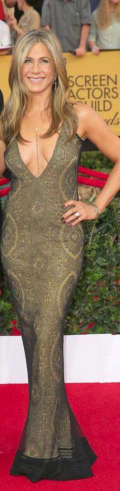 2015 SAG Awards - Jennifer Aniston in vintage John Galliano
